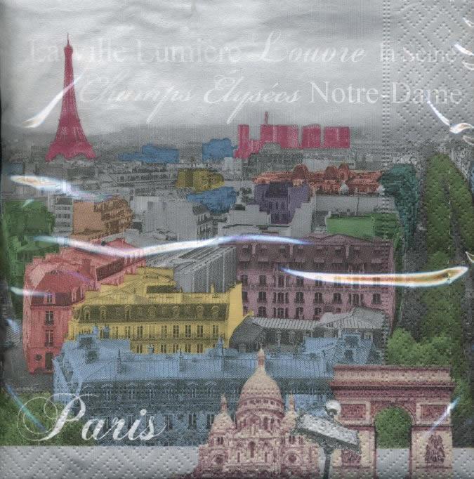Lunch Servietten Paris Colors,  Sonstiges -  Sonstiges,  Regionen - Länder - Frankreich,  lunchservietten