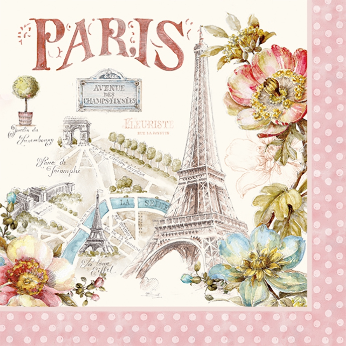 Lunch napkins PARIS FOREVER