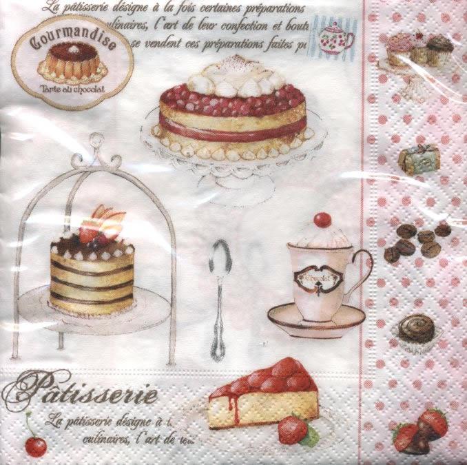 Servietten / Kuchen - Keks,  Essen - Pralinen / Schokolade,  Getränke Kaffee / Tee,  Essen - Kuchen / Keks,  Everyday,  lunchservietten