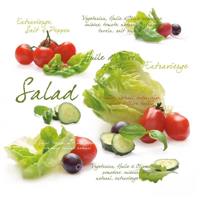 Lunch Servietten Salad,  Gemüse - Salat,  Früchte - Oliven,  Gemüse - Tomaten,  Everyday,  lunchservietten