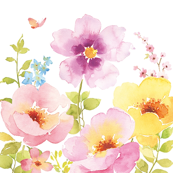 Lunch Servietten Watercolors,  Blumen - Mohn,  Everyday,  lunchservietten,  Mohn