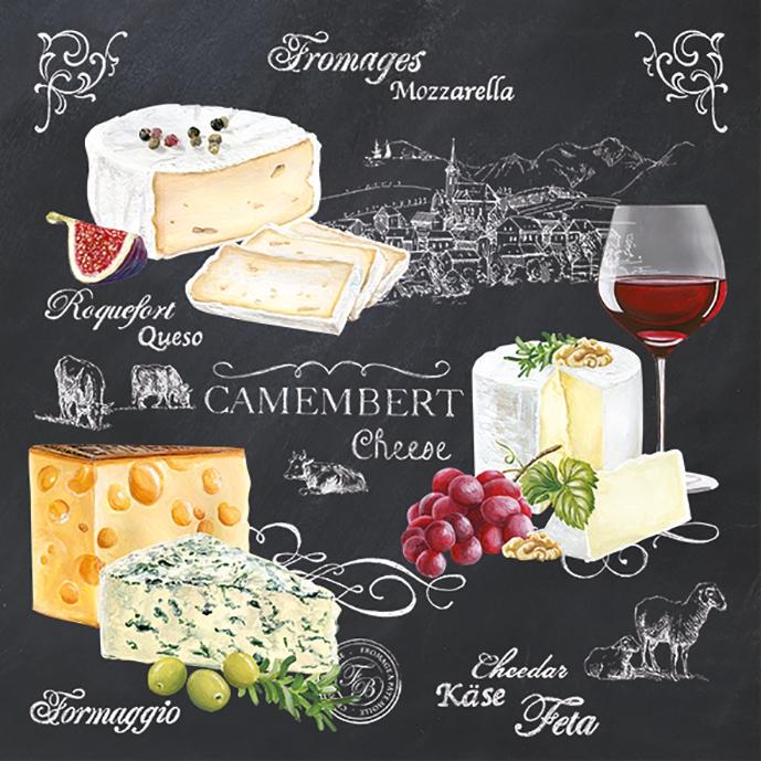 Lunch Servietten World of Cheese