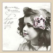 Lunch Servietten Postcard Girl,  Sonstiges - Schriften,  Menschen - Kinder,  Everyday,  lunchservietten