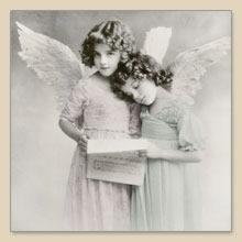 Lunch Servietten Angels reading,  Menschen - Kinder,  Weihnachten - Engel,  Everyday,  lunchservietten