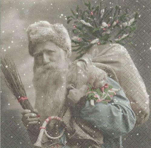 Lunch Servietten Santa,  Winter - Kristalle / Flocken,  Weihnachten - Geschenke,  Weihnachten - Weihnachtsmann,  Everyday,  lunchservietten