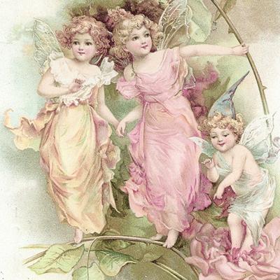 Lunch Servietten Fairies,  Menschen - Kinder,  Weihnachten - Engel,  Blumen -  Sonstige,  Everyday,  lunchservietten