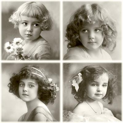 Lunch Servietten 4 Girls,  Sonstiges - Bilder / Gemälde,  Blumen -  Sonstige,  Menschen - Kinder,  Everyday,  lunchservietten