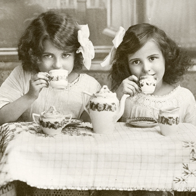 Sagen Vintage Design,  Menschen - Kinder,  Sonstiges - Bilder / Gemälde,  Getränke Kaffee / Tee,  Everyday,  lunchservietten