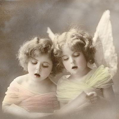 Servietten / Kinder,  Menschen - Kinder,  Weihnachten - Engel,  Everyday,  lunchservietten,  Mädchen,  Engel