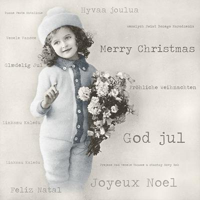 Sagen Vintage design©, Blumen,  Sonstiges - Schriften,  Menschen - Kinder,  Weihnachten,  Everyday,  lunchservietten,  Kinder,  Blumen
