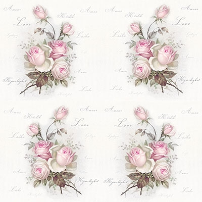 Lunch Servietten Small Love Roses,  Blumen - Rosen,  Sommer,  lunchservietten,  Rosen