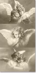 Sagen Vintage design©,  Sonstiges,  Everyday,  bedruckte papiertaschentücher,  Engel