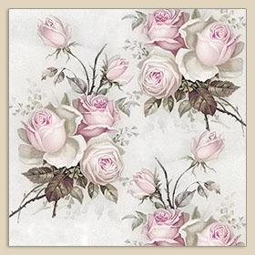 Dinner napkins Roses