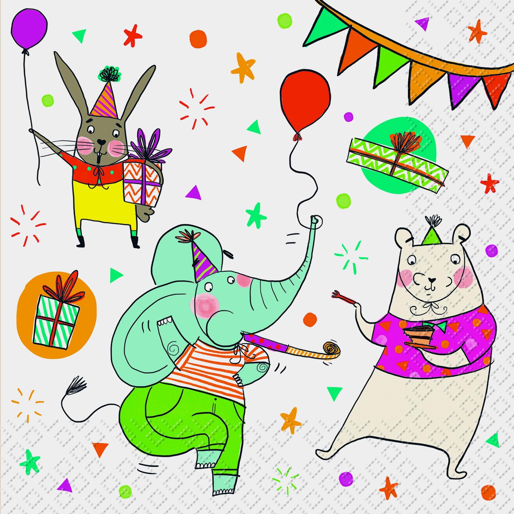 Lunch Servietten Fiesta,  Ereignisse - Feier,  Ereignisse - Geburtstag,  Everyday,  lunchservietten,  Geburtstag,  Kinder