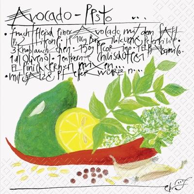 Servietten nach Jahreszeiten,  Früchte - Südfrüchte,  Essen - Gewürze,  Everyday,  lunchservietten,  Zitronen,  Gewürze,  Schriften