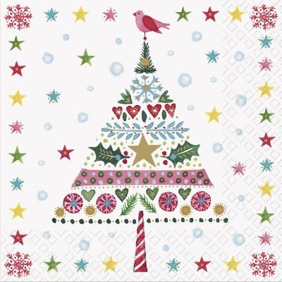 Servietten 25 x 25 cm,  Tiere - Vögel,  Weihnachten - Sterne,  Weihnachten - Baumschmuck,  Weihnachten,  lunchservietten,  Herzen,  Vögel,  Ilex