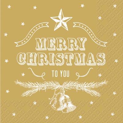 Lunch Servietten Arnesto ,  Sonstiges - Schriften,  Weihnachten - Sterne,  Weihnachten - Glocken,  Weihnachten,  lunchservietten,  Glocken,  Sterne,  Zweige