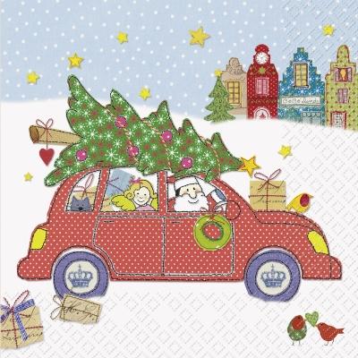 Lunch Servietten Joel o,  Weihnachten - Sterne,  Weihnachten - Weihnachtsbaum,  Weihnachten,  lunchservietten,  Auto,  Geschenke,  Weihnachtsbaum,  Vögel