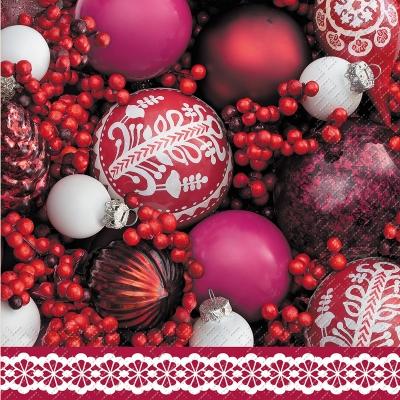 Motivservietten Gesamtübersicht,  Weihnachten - Baumschmuck,  Weihnachten,  lunchservietten,  Kugeln
