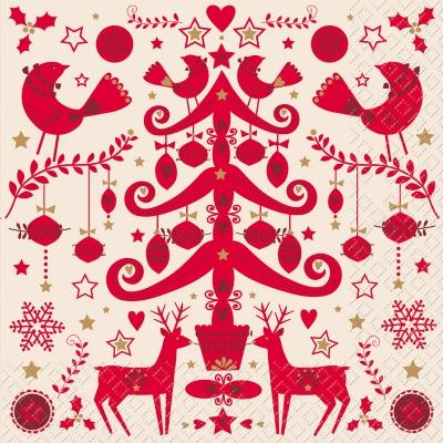 stewo AG, Tiere - Reh / Hirsch,  Weihnachten - Weihnachtsbaum,  Winter - Kristalle / Flocken,  Weihnachten - Sterne,  Weihnachten,  lunchservietten,  Baumschmuck,  Vögel,  Sterne,  Ilex