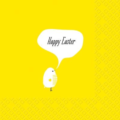 Frühjahr / Ostern,  Ostern,  lunchservietten,  gelb,  Küken