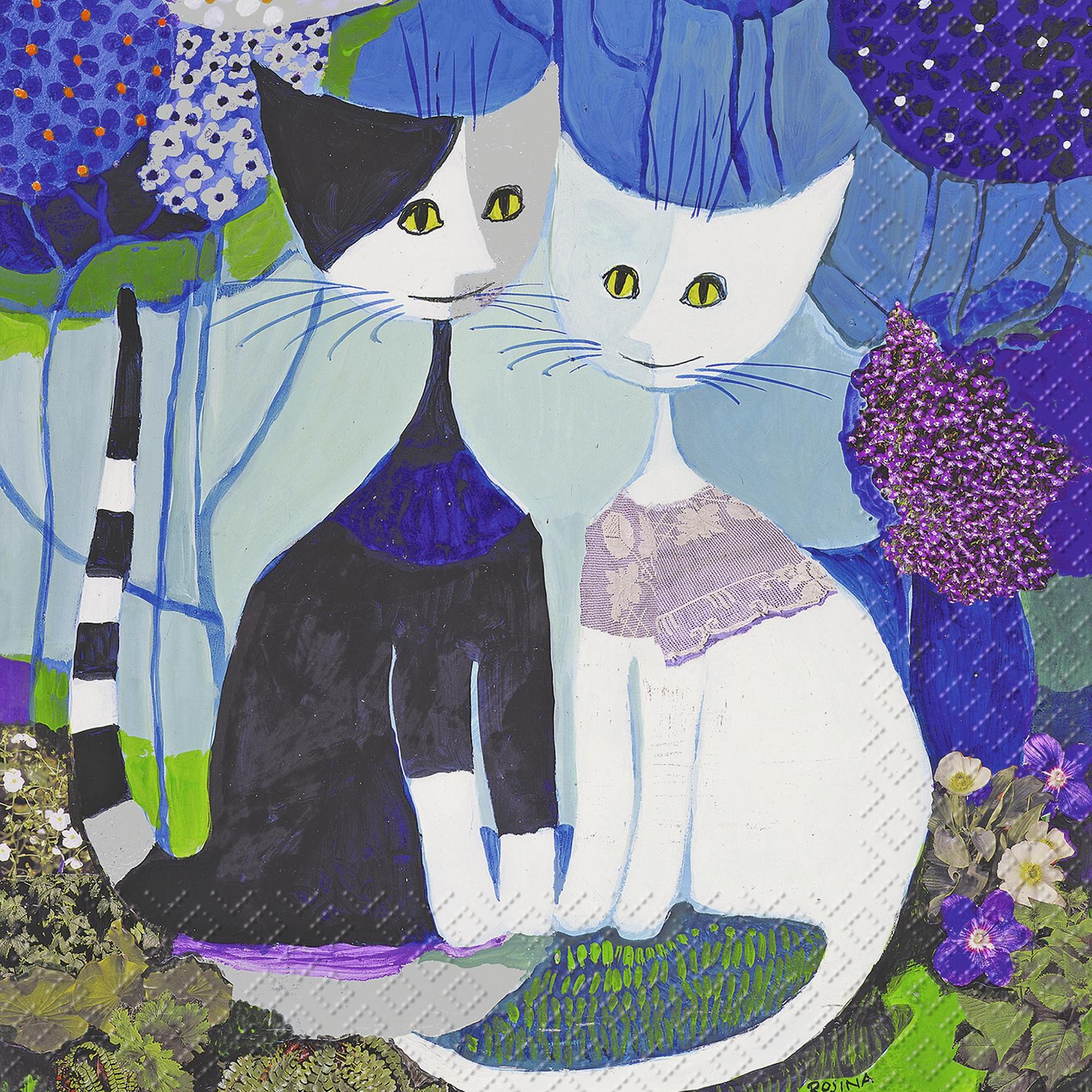 Everyday,  Tiere - Katzen,  Sonstiges - Bilder / Gemälde,  Everyday,  lunchservietten,  Katzen