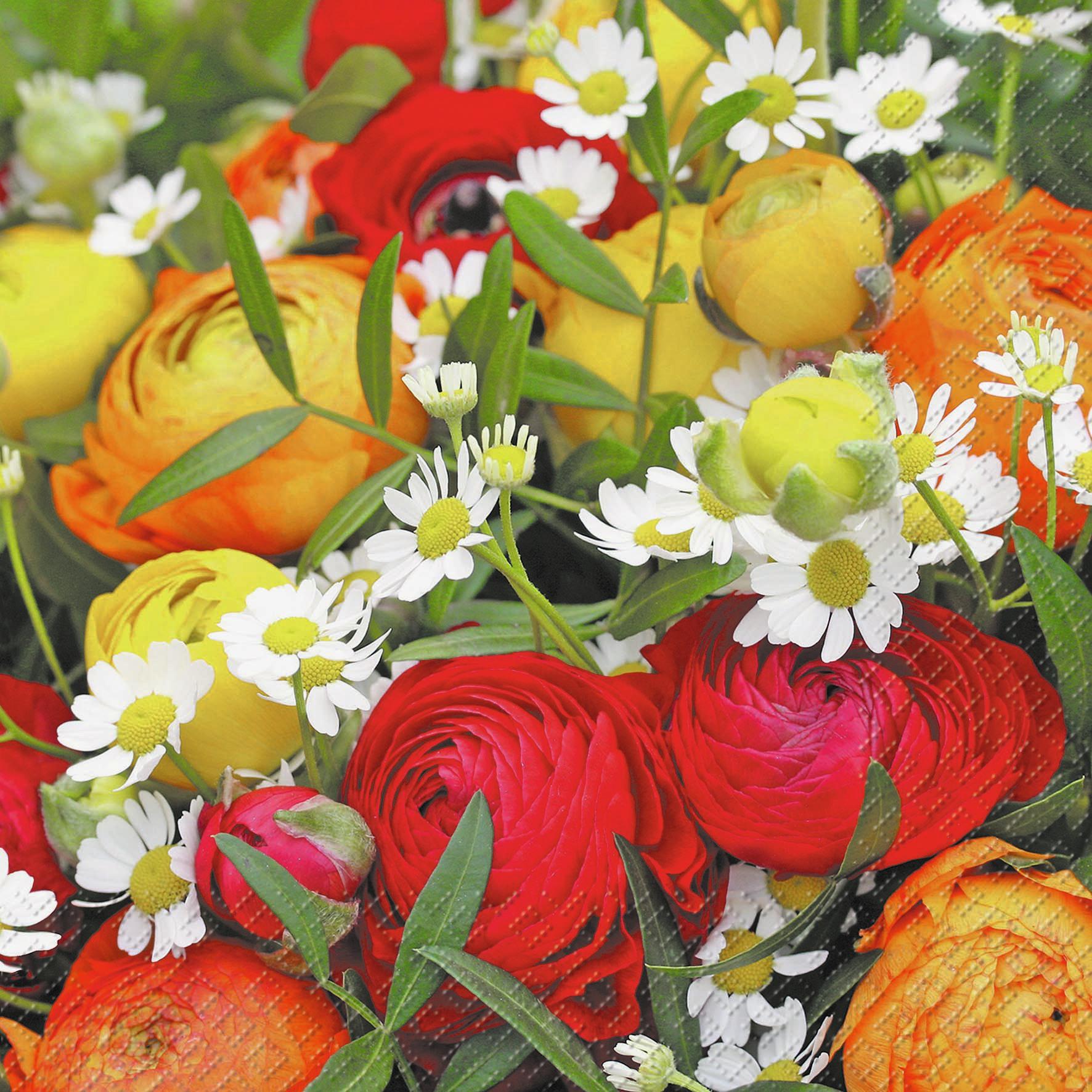 Lunch Servietten Melinda,  Blumen -  Sonstige,  Blumen,  Everyday,  lunchservietten,  Blumen