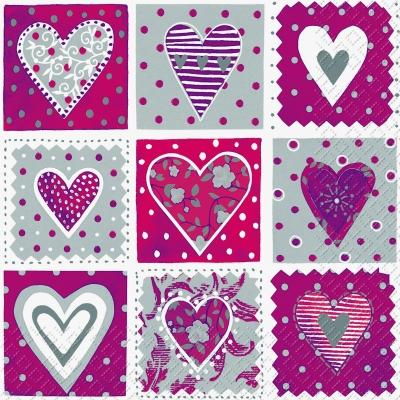 Servietten zum Thema Liebe,  Sonstiges - Muster,  Ereignisse - Liebe,  Everyday,  lunchservietten,  Herz,  Muster,  Liebe
