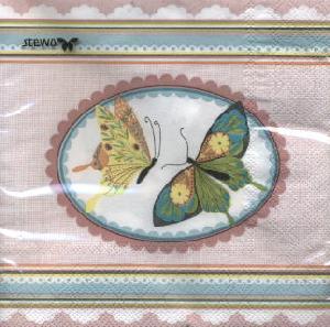 Lunch Servietten Levana,  Tiere - Schmetterlinge,  Ereignisse -  Sonstige,  Frühjahr,  lunchservietten,  Schmetterlinge,  Muster