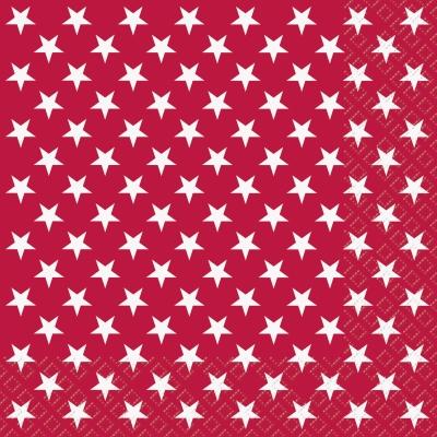 Lunch Servietten Xenia ,  Weihnachten - Sterne,  Everyday,  lunchservietten,  Sterne,  rot