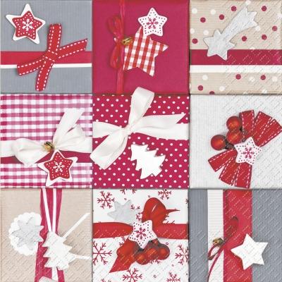 Lunch Servietten Lisandra,  Weihnachten - Geschenke,  Weihnachten,  lunchservietten,  Geschenke,  Schleife