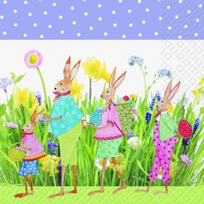 Servietten nach Jahreszeiten,  Ostern - Hasen,  Sonstiges - Muster,  Blumen -  Sonstige,  Ostern,  lunchservietten
