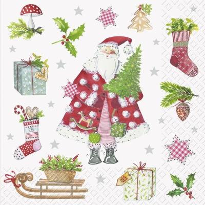 stewo AG,  Winter - Schlitten,  Weihnachten - Geschenke,  Weihnachten - Weihnachtsmann,  Weihnachten,  lunchservietten
