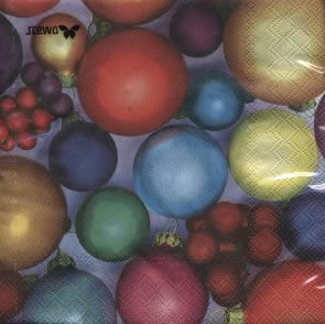 20 Servietten - 33 x 33 cm Duna,  Weihnachten - Sterne,  lunchservietten