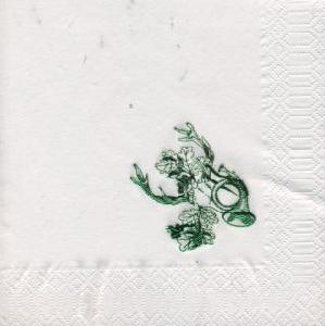 Lunch Servietten Folienprägung - grün,   Einfarbige Servietten,   geprägte Servietten,   geprägte Servietten,  lunchservietten,  Jagd