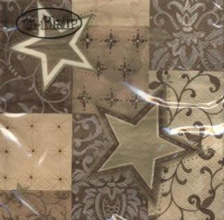 Servietten 25 x 25 cm,  Weihnachten - Sterne,  Weihnachten,  cocktail servietten