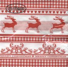 20 Servietten - 25 x 25 cm Classic Deer,  Sonstiges - Muster,  Tiere - Reh / Hirsch,  Weihnachten,  cocktail servietten,  Karos