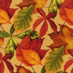 Cocktail Servietten Foliage honey,  Herbst - Blätter / Laub,  Herbst,  cocktail servietten,  Blätter