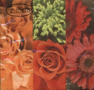 20 Servietten - 25 x 25 cm ,  Blumen - Rosen,  Blumen,  Blumen -  Sonstige,  Everyday,  cocktail servietten