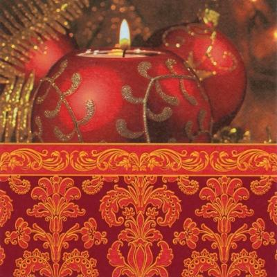 Lunch Servietten Glittering Candlelight,  Weihnachten - Kerzen,  Weihnachten,  lunchservietten,  Kerzen