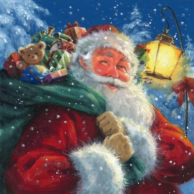 Servietten,  Weihnachten - Geschenke,  Weihnachten - Weihnachtsmann,  Weihnachten,  lunchservietten,  Weihnachtsmann,  Geschenke