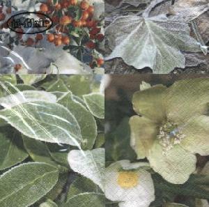 Lunch Servietten Winter Morning,  Pflanzen -  Sonstige,  Weihnachten,  lunchservietten,  Blätter,  Beeren