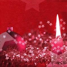Lunch Servietten Atmospheric Candlelight red,  Weihnachten - Adventskranz,  Weihnachten - Kerzen,  Weihnachten - Sterne,  Weihnachten,  lunchservietten