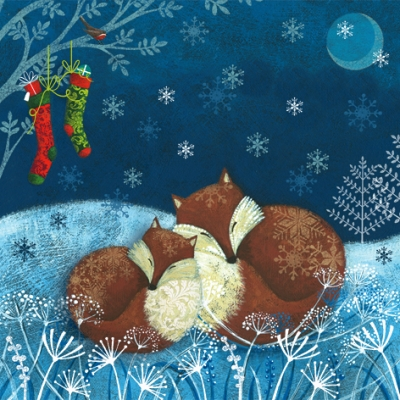 Servietten 33 x 33 cm,  Winter - Schnee,  Tiere -  Sonstige,  Weihnachten,  lunchservietten,  Fuchs,  Schnee
