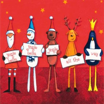 Servietten,  Winter - Schneemänner,  Tiere -  Sonstige,  Weihnachten - Weihnachtsmann,  Weihnachten,  lunchservietten,  Schneemann,  Teddybär,  Hirsch,  Pinguin