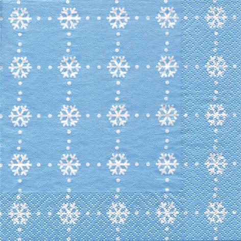 Tovaglioli 33x33 cm - Crostaux de Glace blu ghiaccio