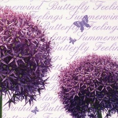 20 Servietten - 33 x 33 cm Allium,  Sonstiges - Schriften,  Blumen,  Everyday,  lunchservietten