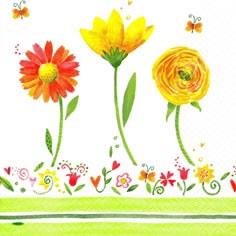 Lunch Servietten Sunny Flowers Bloom