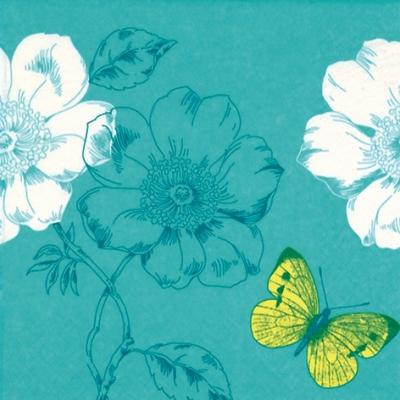 Everyday,  Tiere - Schmetterlinge,  Blumen -  Sonstige,  Everyday,  lunchservietten,  Blumen,  Schmetterlinge
