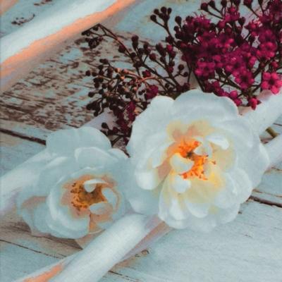 Lunch Servietten Scene Blanche, Sonstiges -  Sonstiges,  Blumen - Rosen,  Blumen,  Everyday,  lunchservietten,  Blumen,  Rosen